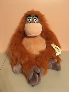 "Authentic Walt Disney World KING LOUIE 14"" Plush Jungle Book Orangutan NWT"