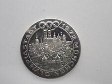 Seltene Echtsilbermedaille: Olympiastadt München 1972