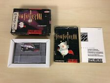 Final Fantasy III 3 Complete Game CIB Super Nintendo SNES FF3 FFIII