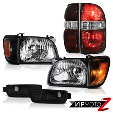 For 01-04 Toyota Tacoma SR5 Rear brake lamps nighthawk black headlamps bumper