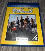 Fast  Furious 6 (Blu-ray Disc, 2013, 2-Disc Set Includes Digital Copy Not Sealed