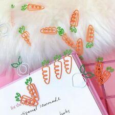 12pcs Paper Clips Creative Metal Radish Shape Clamps Bookmark Art Projects