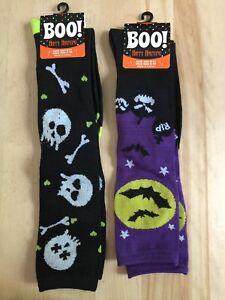 Lot 2-Halloween Socks Over the Knee-Fits Shoe Size 4-10 (SRP $8 EA) FREE SHIP