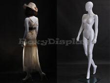 Female Fiberglass Glossy White Mannequin Egg Head #LISA9EG-MZ