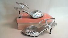 Nuevo Traje de Novia/de noche: toque Ups Zapatos-Asher-Plata-us 12M-UK 10 #1L310