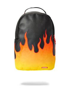Sprayground Cream FLAME Shark HOT FIRE Backpack 1M Gold Tag Bag