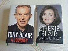 tony blair, cherie blair - both signed hardback books