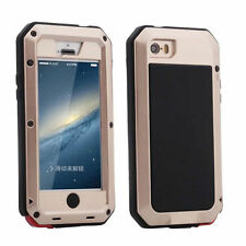 Aluminium Shockproof Hybrid Heavy Duty Metal Glass Cover Case For iPhone/Samsung