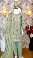Abisha Marina Karandi embroidered unstitched 3pc pakistani Indian salwar kameez
