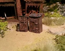 High detailed resin casting track side  huts By R&M suit HO OO gauge unpainted