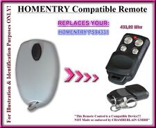 Homentry PS94331 compatible remote control replacement 433,92Mhz