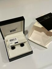 Montblanc Meisterstück Onyx Inlay Round Cufflinks NEW IN BOX