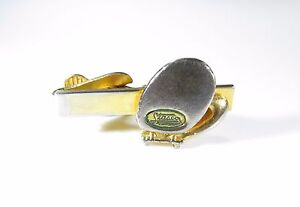 Small Gold Tone Tie Clip with Stasco Toilet Seat Logo 2 of 2