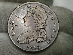 1936 Capped Bust Half Dollar w/ Small Obverse Scratch.  #8