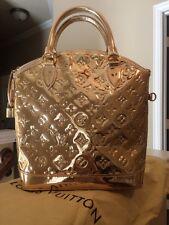 AUTH Louis Vuitton Limited Edition Gold Monogram Miroir Lockit Bag