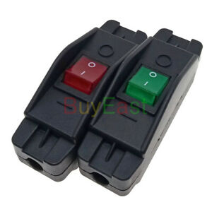 16Amp Heavy Duty Inline Cable Rocker Switch Max AC100~250V LED Indicator