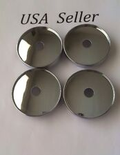 "4 pcs Universal Chrome Empty Wheel Center Caps 60mm/ 2 3/8"" Andros #1 Wheel"