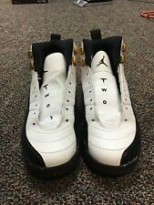Air Jordan 12 Retro taxi white black shoes youth size 6 153265-125
