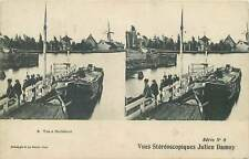 Postcard Stereographic stereo view postcard Netherlands Buiksloot vue