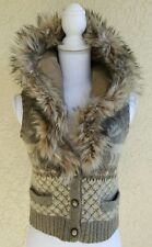 Ralph Lauren Denim Supply Knit Sweater Vest Detachable Faux Fur Collar M Wool