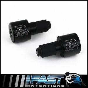 """Fits 1985-2021 Suzuki GSXR GSX-R Black Laser-Etched Billet 7/8"""" Inch Bar Ends"""