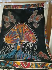 Vintage Magic Mushroom Indian cotton Wall hanging campervan Throw Bedspread