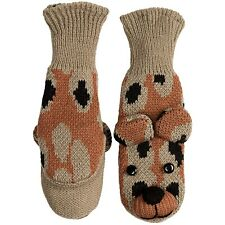 MAD BOMBER KID'S COZY CRITTER CHEETAH MITTENS  NWT $18.00 LIST