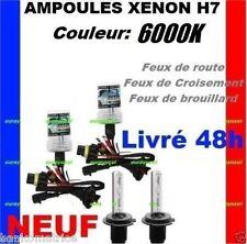 2 AMPOULES DE RECHANGE 35W POUR KIT XENON HID H7 6000K