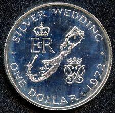1972 Bermuda Uncirculated 1 Dollar Silver Coin (28.28 Grams .925 Silver)