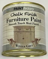 1 x 650ml Shabby Chic Effect Chalk finish Furniture Paint Winter Grey