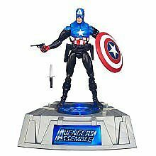 The Avengers Captain America Marvel Universe Exclusive Figure Light Up Base! NIB
