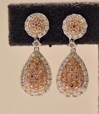 2.38CT PINK DIAMOND & WHITE DIAMOND DANGLING EARRINGS