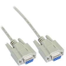 2M NULL MODEM CABLE LEAD RS232 DB9F 9 PIN SERIALE DB9 Femmina a DB9 Femmina comm