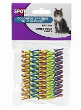 ETHICAL SPOT COLORFUL THIN SPRINGS 10 PACK CAT TOY. FREE SHIPPING IN THE USA