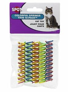 Spot Thin Colorful Springs Cat Toy 10 Pack Drives Cats Wild