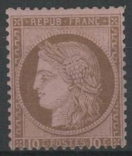 "FRANCE STAMP TIMBRE N° 54 "" CERES 10c BRUN SUR ROSE 1875 "" NEUF x TTB   M803"
