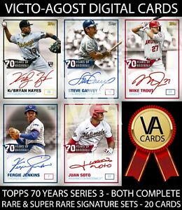 Topps Bunt 70 Years of Baseball S3 BOTH SIGNATURE SETS - 20 Cards [BUNT APP]