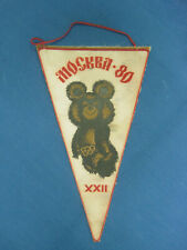 Moscow Olympic Games 1980. Olympic Bear Misha. Pennant.