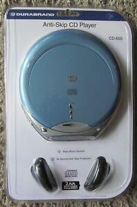 DURABRAND CD-855 CD PLAYER ANTI-SKIP BASS BOOST PROGRAMMABLE BLUE. NEW, SEALED.