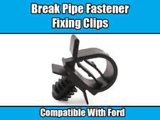 10x Clips For Ford Break Pipe Fastener Fixing Black Plastic FORD CAR