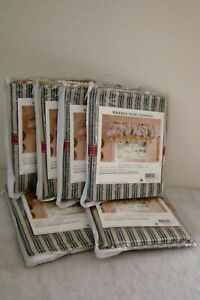 New Waverly Home Fashions Balloon Valance Captains Stripe Steal Blue Tan Panels