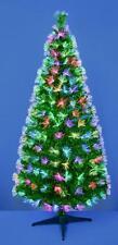 Premier Green Tree With Coloured Fibre Optics 1.8m Christmas Tree .
