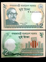 Bangladesh 2 Taka Banknote World Paper Money UNC Currency Bill Note