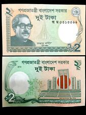 Bangladesh 2 Taka Banknote World Paper Money UNC Currency Bill Note