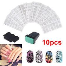 10 Nail Art Stamper Stamping Plate Manicure Scraper Plates Design Accessories