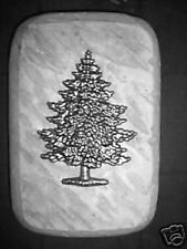 "Christmas tree rain brick concrete plaster mold 9"" x 6"" x over 2"" thick"