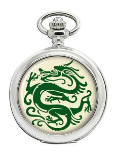 Chinese Dragon Stencil Pocket Watch