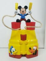 Vintage Walt Disney Mickey Mouse Binoculars Pluto Donald Duck Illco toy Yellow