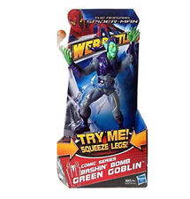 "Marvel Comics SPIDERMAN Bashing Bomb GREEN GOBLIN villain 6"" toy figure, venom"