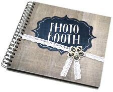 84 Page Hard Backed Vintage Photobooth Album White Pages